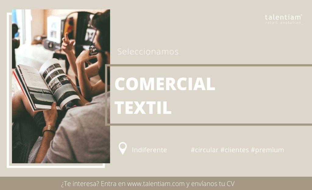 posición de comercial textil sector premium