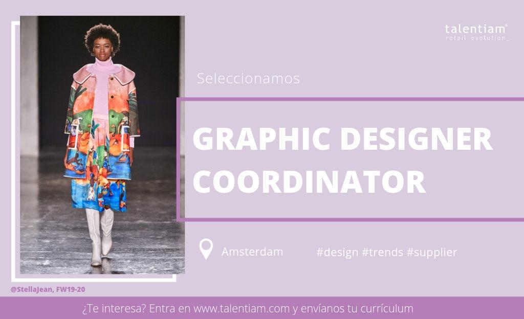 oferta de empleo diseñador gráfico coordinator