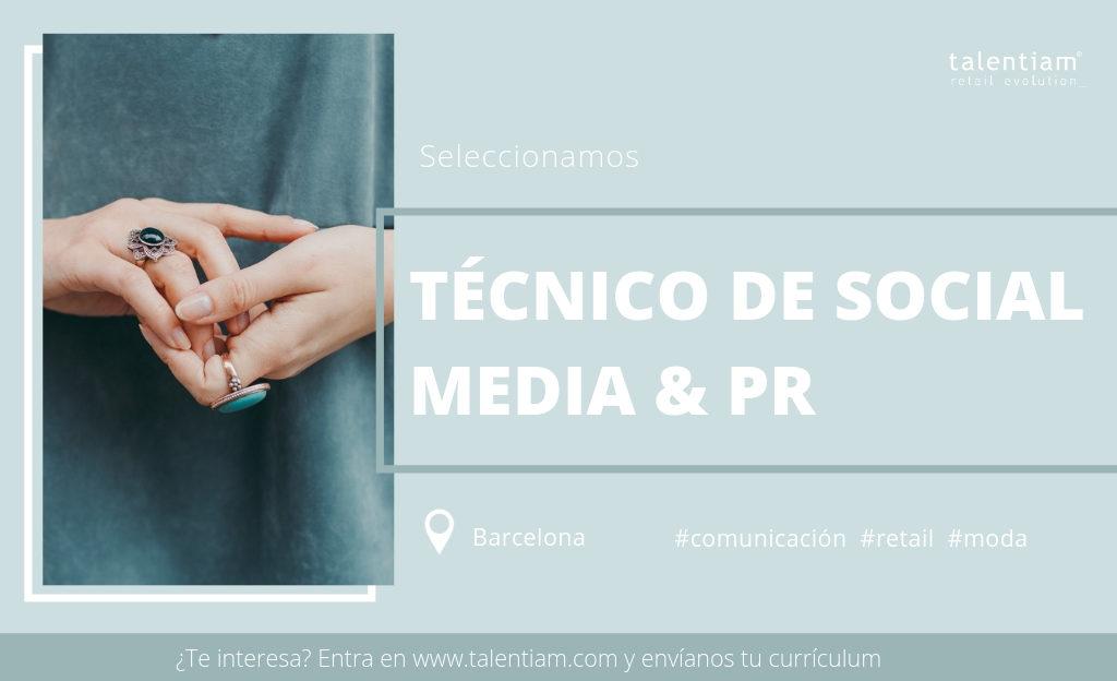 Oferta de empleo Técnico de Social Media & PR