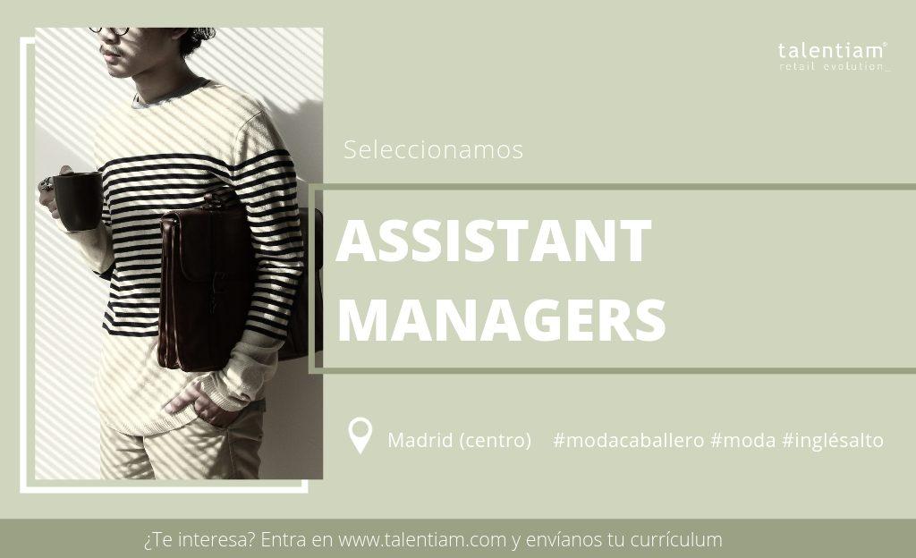 oferta de empleo assistant store manager