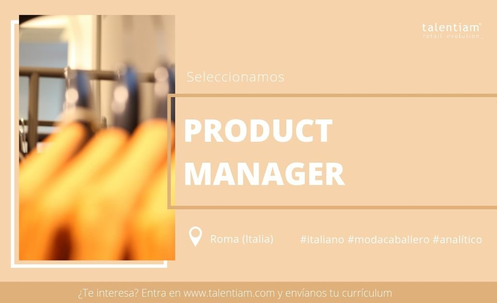 oportunidad product manager Italia