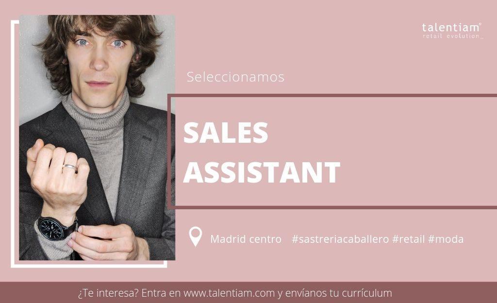oferta de empleo sales assistant Madrid