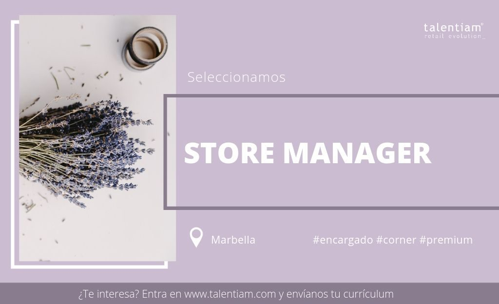 oportunidad profesional store manager marbella