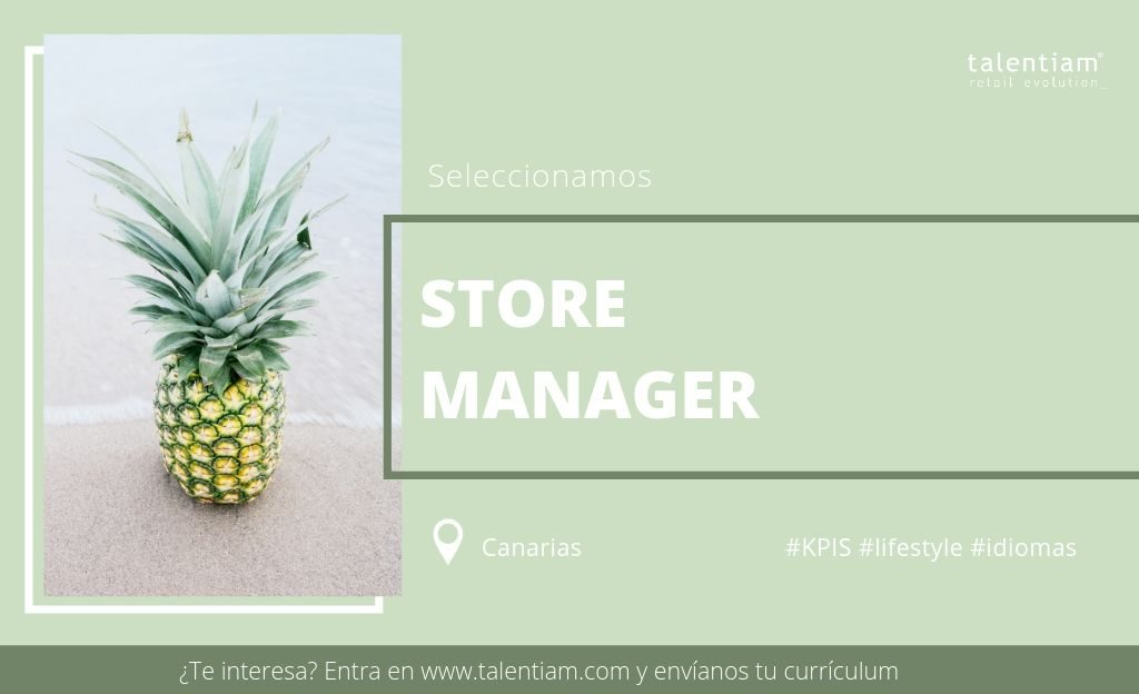 oportunidad profesional Store Manager Canarias