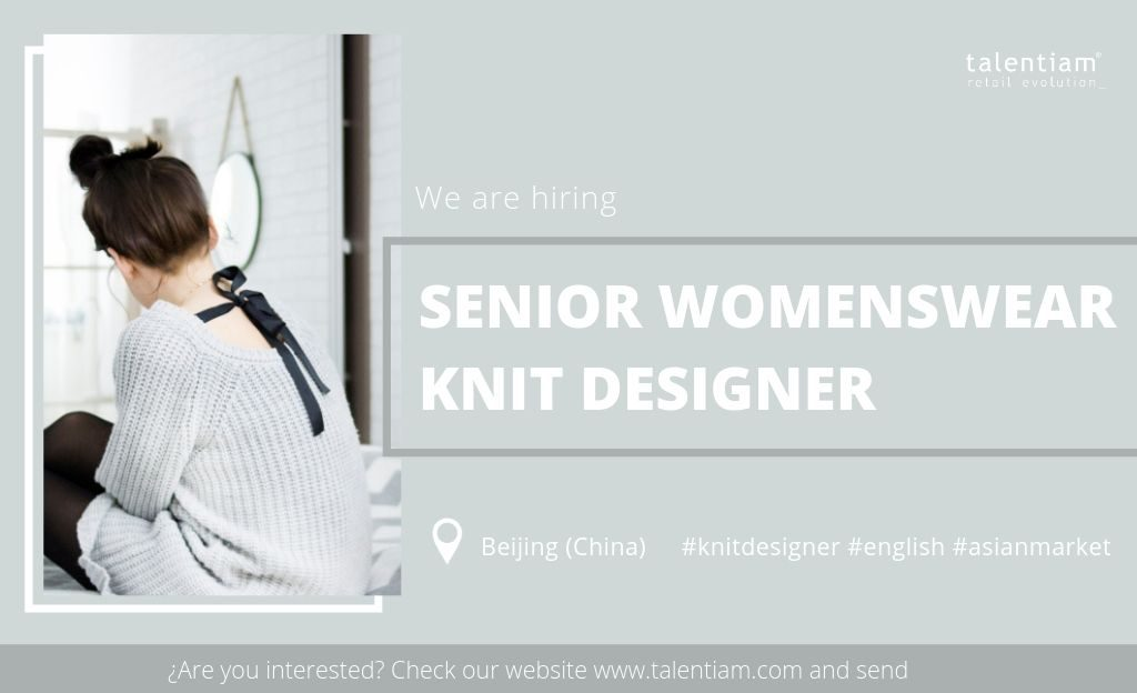 senior womenswear knit designer Beijing (China)