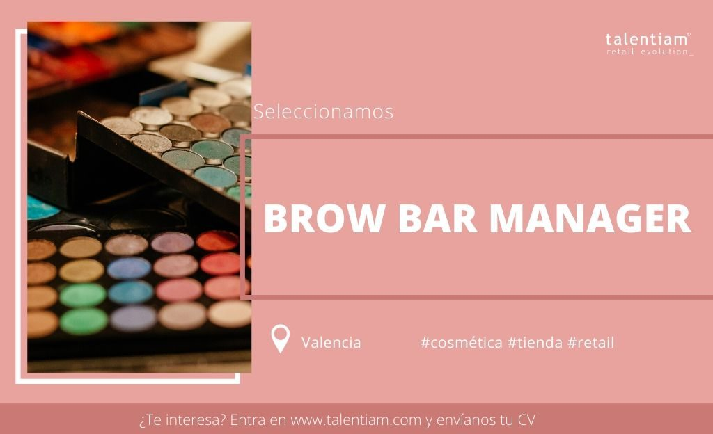 oportunidad profesional brow bar manager