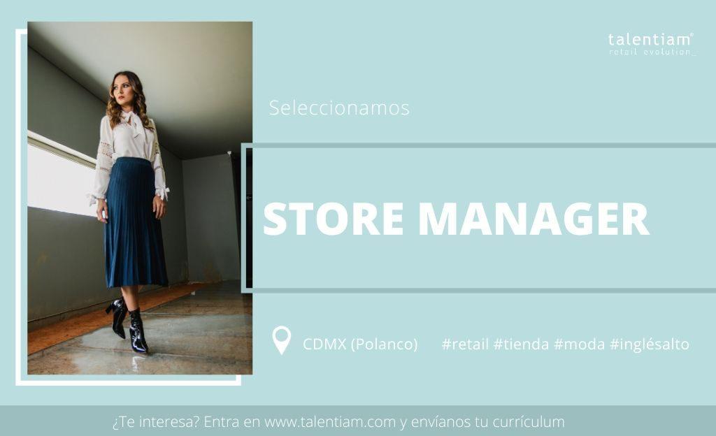 oportunidad profesional Store Manager CDMX Polanco