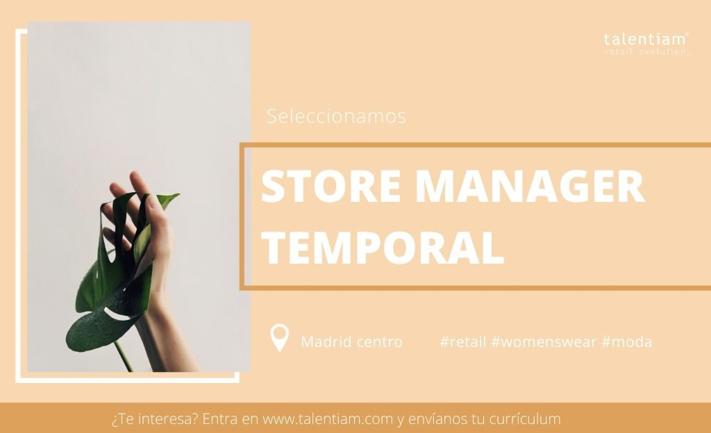 oportunidad profesional store manager temporal